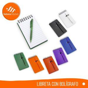 Libreta Con bolígrafo Sabana Market